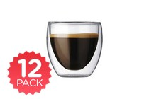 - Double Wall Drink Glass 100ml - 12 Pack