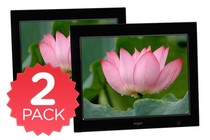 "- 15"" LCD Digital Photo Frame & Media Player - Twin Pack"